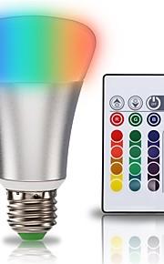 1set 10W E27 LED-globepærer A70 1 leds COB 2 i 1 RGB + Hvit 900lm +6000K AC 85-265V