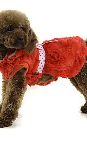 Cane Cappottini Abbigliamento per cani Casual Da principessa Arancione Grigio Rosa