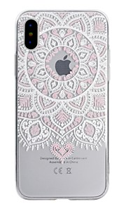 Case For Apple iPhone X iPhone 8 Transparent Pattern Back Cover Lace Printing Soft TPU for iPhone X iPhone 8 Plus iPhone 8 iPhone 7 Plus