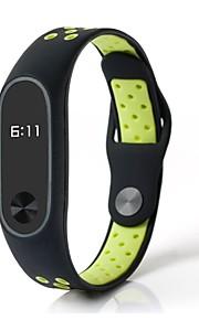 pulseira de fita de relógio de borracha verde 25cm / 9.84 polegadas 1cm / 0.39 inches