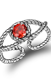 Dame Manchet ring Simple Mode Zirkonium Geometrisk form Smykker Til Anden Daglig