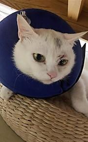 Gato Cachorro Colarinho Roupas para Cães Tecido Primavera/Outono/Inverno/Verão Circular Casual Mantenha Quente Sólido Azul Para animais