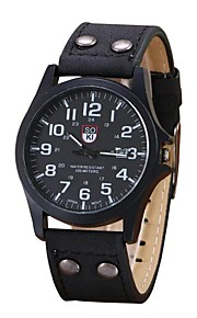 Men's Casual Watch Sport Watch Fashion Watch Chinese Quartz Chronograph Leather Band Casual Elegant Christmas Black Blue Brown Khaki