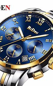 Homens Relógio Casual Relógio de Moda Relógio de Pulso Chinês Quartzo Calendário Impermeável Lega Banda Luxo Vintage Casual Preta Prata