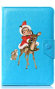 caja universal de la cubierta del soporte del cuero de la PU del búho de la Navidad para 7 pulgadas 8 pulgadas 9 pulgadas tableta de la