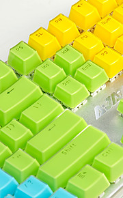 aj krystal mekanisk tastaturnøgle cap 104 all-key tofarvet gennemsigtigt farve nøglehue polychromatisk valgfri