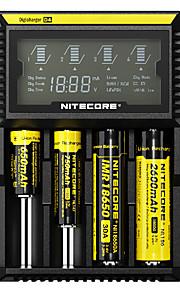 Nitecore D4 배터리 충전기 보호 회로 / 단락 보호 / 초과 충전 보호 용 Li-ion (리튬이온) / Ni-Cd / Ni-MH 10440,14500,16340 (RCR123), 17500,17670,18350,18490,18500,18650,22650,26650, AA, AAA, AAAA, C