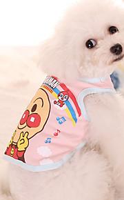 כלב טי שירט בגדים לכלבים בד כותנה קיץ/אביב קיץ יום יומי\קז'ואל דפוס כחול ורוד תחפושות עבור חיות מחמד