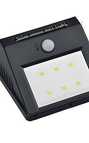 1pcs 6leds vanntett ledet ip65 solar pir bevegelsessensor lys ledet utendørs trådløs vegglampe