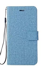 Etui Til Motorola Z2 play G5 Plus G5 E4 Plus C plus C Pung Kortholder Med stativ Flip Heldækkende Helfarve Anden Hårdt Kunstlæder for
