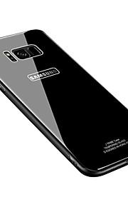 ケース 用途 Samsung Galaxy S8 Plus S8 超薄型 バックカバー 純色 ハード 強化ガラス のために S8 S8 Plus