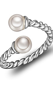 Dame Manchet ring Koreansk Mode Perle Geometrisk form Smykker Til Anden Daglig