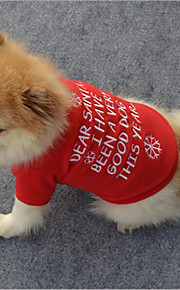 katze hund shirt / t-shirt sweatshirt hund kleidung stilvolle schneeflocke casual / täglich warm halten weihnachten brief&Nummer rot