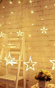 stjerne gardin lys 8 moduser med 12 stjerner 138 leds vanntett kobling gardin streng lys streng lys
