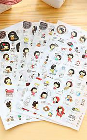 5 stk / sett jente daglig dagbok klistremerke klistremerke klistremerke klistremerke