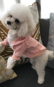 חתול כלב מעילים סוודרים קפוצ'ונים עיצוב בגדים לכלבים כותנה קיץ/אביב חורף מסיבה חדש יום יומי\קז'ואל Keep Warm כריזמות לנופש לבן אדום ורוד