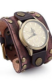 Men's Casual Watch Chinese Quartz Chronograph Leather Band Casual Elegant Christmas Black Brown Khaki