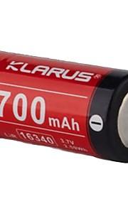 KLARUS 16430 batteri Bärbar Professionell Enkel att bära Hög kvalitet Lättviktig för 16340 Li-jon RS16、P1C、XT1C、XT2C、XT10、XT11、RS11