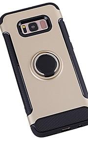 ケース 用途 Samsung Galaxy S8 Plus S8 耐衝撃 バンカーリング バックカバー 純色 鎧 ハード PC のために S8 S8 Plus