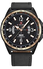 Homens Relógio Casual Relógio de Moda Relógio Elegante Relógio de Pulso Japanês Quartzo Calendário Cronógrafo Impermeável Couro Legitimo