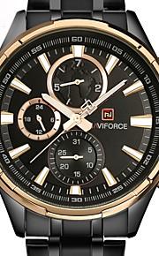Homens Relógio Casual Relógio Militar Relógio de Pulso Chinês Quartzo Calendário Cronógrafo Impermeável Noctilucente Aço Inoxidável Banda