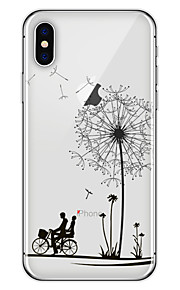 Custodia Per Apple iPhone X iPhone 8 Plus Fantasia/disegno Custodia posteriore Dente di leone Morbido TPU per iPhone X iPhone 8 Plus