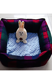 Cat Dog Bed Pet Mats & Pads Plaid/Check Portable Foldable Rainbow For Pets