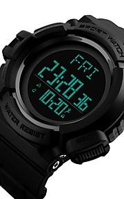 Homens Crianças Relógio de Moda Relógio Casual Relógio Esportivo Chinês Digital Calendário Podômetro Cronômetro Noctilucente Dois Fusos