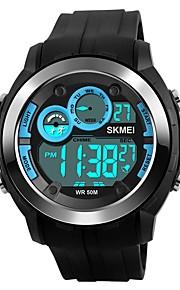 Homens Crianças Relógio Casual Relógio Esportivo Relógio de Moda Chinês Digital Calendário Cronógrafo Impermeável Noctilucente PU Banda