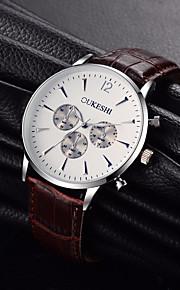 Homens Relógio de Moda Relógio Elegante Relógio de Pulso Chinês Quartzo N/D Couro Banda Casual Legal Minimalista Preta Marrom