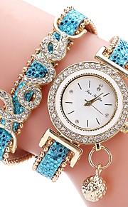 Dam Barn Simulerad Diamant Klocka Unik Creative Watch Modeklocka Kinesiska Quartz Kronograf Vattenavvisande Vardaglig klocka PU Band