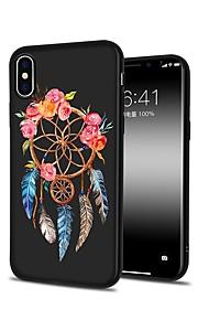 Custodia Per Apple iPhone X iPhone 8 Plus Fantasia/disegno Custodia posteriore Fiore decorativo Morbido TPU per iPhone X iPhone 8 Plus