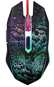 Chasing Panther T9 Wired USB Interface Game Mouse 6 Button Adjustable DPI
