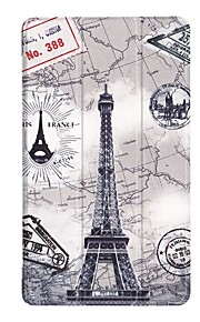 8 Inch Painting Pattern Three fold PU Leather Case with Stand for Lenovo TB-8804F(ZA3F0000CN)
