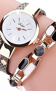 Mulheres Quartzo Relógio de Moda Relógio Casual Chinês Cronógrafo Relógio Casual Couro Banda Elegant Natal Dia Das Bruxas Preta Azul