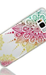 Custodia Per Samsung Galaxy S8 Plus S8 IMD Fantasia/disegno Per retro Fiori Mandala Glitterato Morbido TPU per S8 Plus S8 S7 edge S7