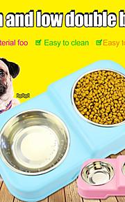 Gato Cachorro Tigelas Animais de Estimação Tigelas e alimentação de animais Portátil Durável Verde Azul Rosa claro