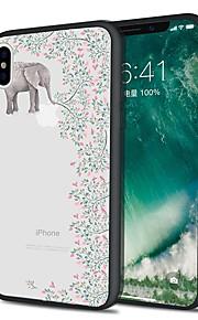 Custodia Per Apple iPhone X iPhone 8 Plus Fantasia/disegno Custodia posteriore Animali Elefante Morbido TPU per iPhone X iPhone 8 Plus