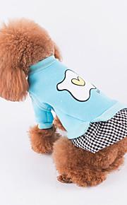 강아지 드레스 강아지 의류 캐쥬얼/데일리 격자무늬/체크 레드 블루 핑크 코스츔 애완 동물