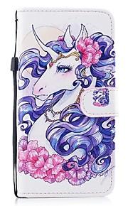 hoesje Voor Samsung Galaxy S8 Plus S8 Kaarthouder Portemonnee met standaard Flip Patroon Volledige behuizing Eenhoorn Hard PU-leer voor