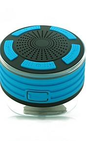 F013 Speaker Kamerastativer med sugekop Bluetooth 4.2 Mikro USB Subwoofer Orange Lyseblå