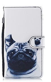 hoesje Voor Huawei P8 Lite (2017) P10 Lite Kaarthouder Portemonnee met standaard Flip Patroon Volledige behuizing Hond Hard PU-leer voor
