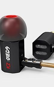 kz ed9 cuffie per musica per orecchio basso pesante auricolare in metallo febbrile hifi