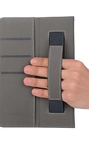 estuche de cuero macizo estampado con soporte de mano para lenvov tab3 8.0-850f 8 pulgadas tablet pc