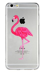 Case For Apple iPhone 6 iPhone 7 Translucent Pattern Embossed Back Cover Flamingo Cartoon Animal Soft TPU for iPhone X iPhone 8 Plus