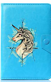 Hülle Für Ganzkörper-Gehäuse Tablet-Hüllen Einhorn Cartoon Design Hart PU-Leder für