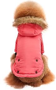 Kot Pies T-shirt Bluzy z kapturem Bluzy Ubrania dla psów Elegancki Zatrzymujący ciepło Stały Różowy Kostium Dla zwierząt domowych