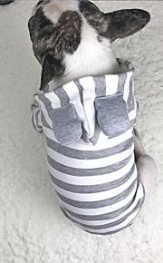 Hund Hættetrøjer Sweatshirt Hundetøj Stilfuld Afslappet/Hverdag Solid Grå Kostume For kæledyr