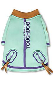 犬 スウェットシャツ 犬用ウェア スタイリッシュ カジュアル/普段着 保温 文字&番号 グリーン ピンク コスチューム ペット用