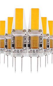 YWXLIGHT® 10pcs 3W 200-300 lm G4 LED Bi-pin 조명 2 LED가 COB 장식 LED 조명 따뜻한 화이트 차가운 화이트 내추럴 화이트 2700-3200 / 4000-4500 / 6000-6500 케이 AC 12 V